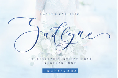 Sadlyne Wedding Cyrillic font + Extras