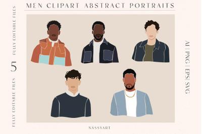 Men Portrait Fashion Cliparts