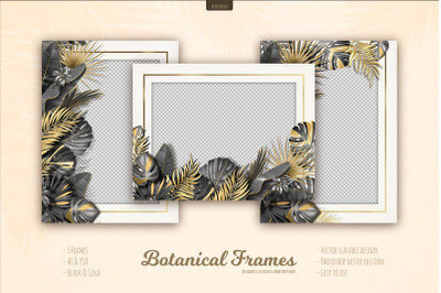 Botanical Tropical Leaves Frames