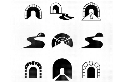 tunnel bundle SVG and PNG clipart