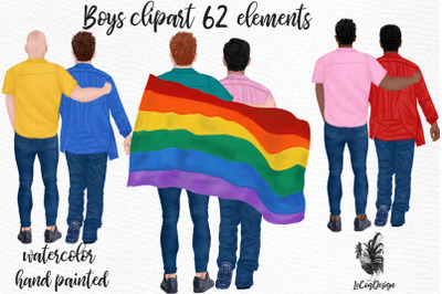 LGBTQ Male clipart Gay couples LGBTQ Mug designs Lgbt Love