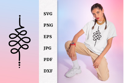 Unalome art Unalome decal T shirt and Tattoo Design SVG