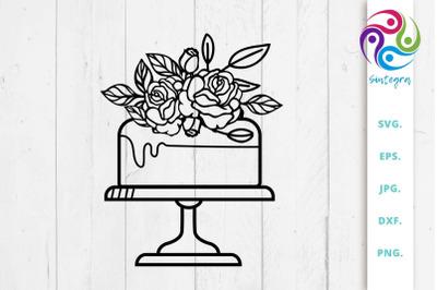 Floral Cake SVG File