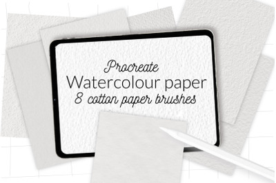 Procreate watercolor paper texture brushes. Cotton paper brushes for P