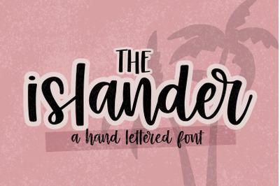 Islander - Hand Lettered Script font - crafting font