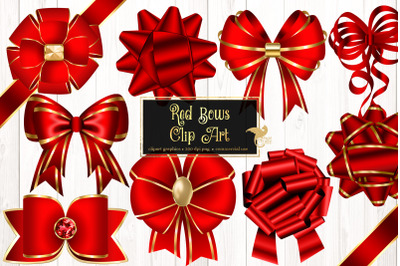 Red Bows Clipart