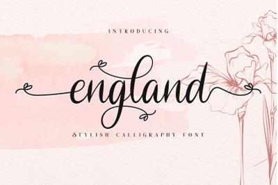 England Stylish Calligraphy