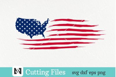 USA Flag Svg, Distressed USA Flag Svg, American Flag Svg