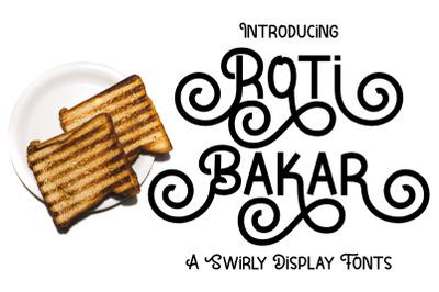 Roti Bakar - A Swirly Display Fonts