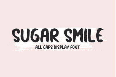 Sugar Smile - All Caps Display Font