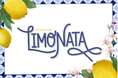 Limonata Font (Beautiful Fonts, Retro Fonts, Vintage Fonts)