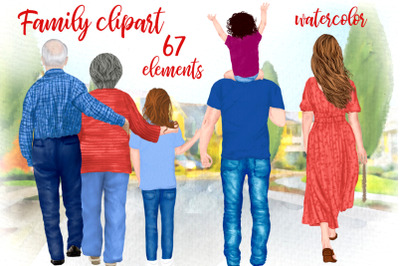 Family clipart Grandparents and kids Mothers day clipart