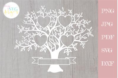 Family tree svg 4 members, svg family tree, family reunion svg
