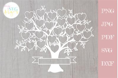 Family tree svg 23 members, svg family tree, family reunion svg