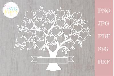 Family tree svg 24 members, svg family tree, family reunion svg