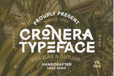 Cronera - Handcrafted Typeface