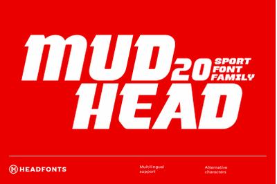 Mudhead Family | Sports Display Font