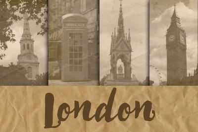 London Digital Paper Backgrounds