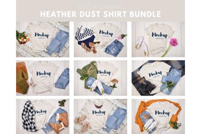 Heather Dust T-Shirt Mockup Bundle