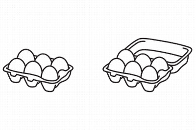 Egg tray carton SVG and PNG clipart