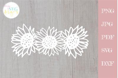 Sunflower svg, sunflowers svg, Floral wreath svg