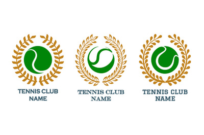 Tennis Club Emblem Set