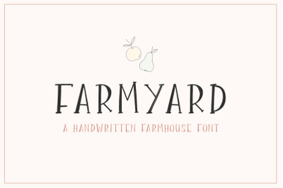 Farmyard Font (Farmhouse Fonts, Rustic Fonts, Country Fonts)