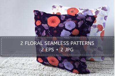 2 mallow flower patterns