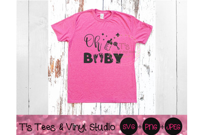 Oh Baby SVG, Pregnancy Announcement, Baby On Board, Baby Feet, Baby To