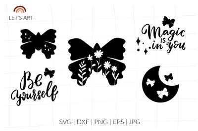 Butterfly svg. Butterfly saying svg, svg for shirt. Moth svg, Boho svg