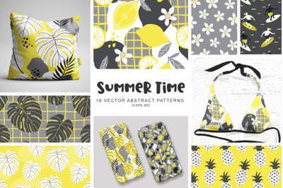 Summer Time Vector Abstract Patterns