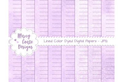 Lavender Lined Journal Pages US Letter Size