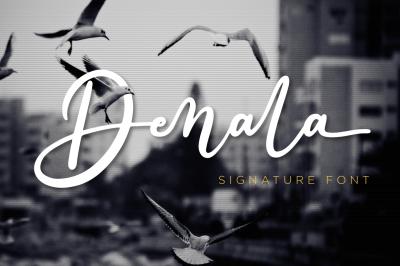 Denala - Signature Font