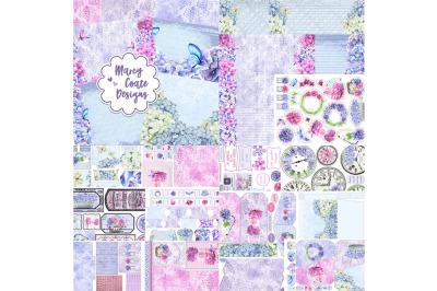 Hydrangeas Printable Journal Kit with Ephemera