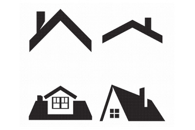 house roof with chimney SVG and PNG clipart