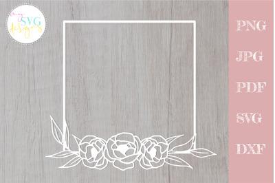 Rose svg, Rose frame svg, Floral frame svg