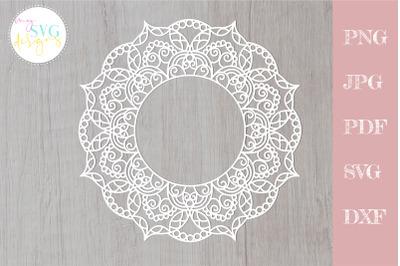 Mandala frame svg, Monogram frame svg, Mandala svg