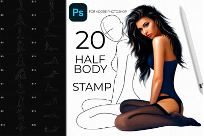 Adobe Photoshop Fashion Body Pose Stamps