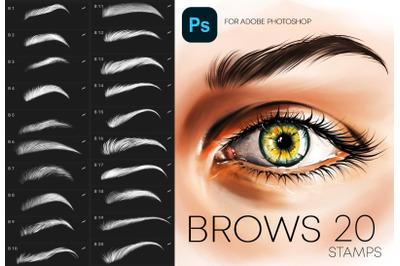 Adobe Photoshop Brows Stamp Brushes Makeup