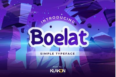 Boelat - Simple Typeface