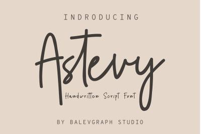 Astevy Handwritten Script Script