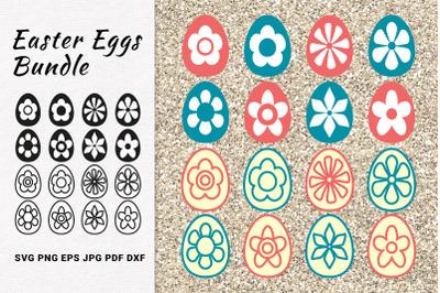 Easter Eggs Bundle SVG Cut Files