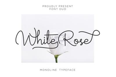 white rose font duo