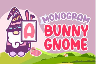 Monogram Bunny Gnome