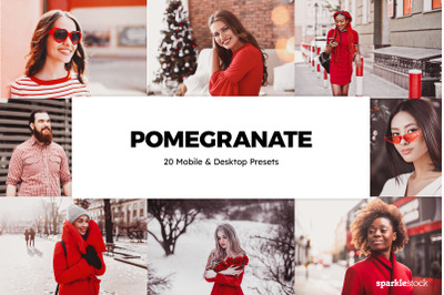 20  Pomegranate LR Presets