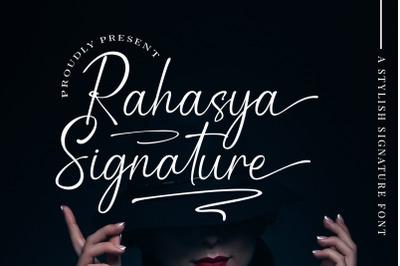 Rahasya signature