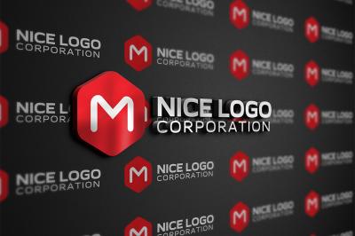 m hexagon logo