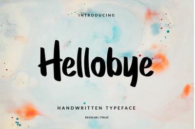 Hellobye Handwritten Brush