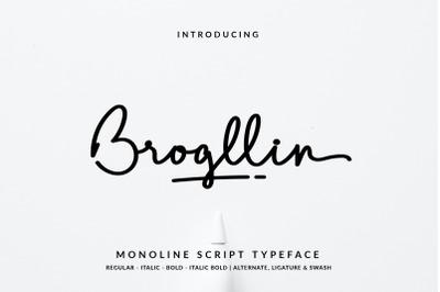 Brogllin Handwritten Monotype