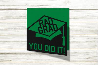 Rad Grad Layered Papercut Graduation Card   SVG   PNG   DXF   EPS